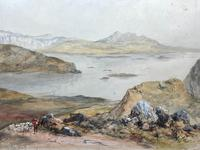 19th Century Scottish Highlands Watercolour Loch Kishorn By William Leighton Leitch (29 of 36)