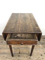 Small Victorian Welsh Oak Pembroke Table (18 of 18)