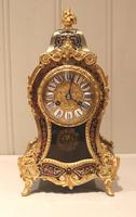 Small French Tortoiseshell and Brass inlay Mantel Clock (12 of 12)