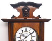 Antique Rocket Cased Single Weight Walnut 8-Day Vienna Regulator Wall Clock (9 of 14)