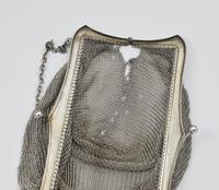 Large Art Deco English Sterling Silver Chain Link Evening Bag (7 of 7)