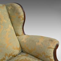 Antique Wing-Back Armchair, English, Fireside, Lounge, Seat, Edwardian, 1910 (5 of 12)