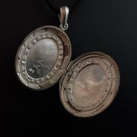 Antique Victorian Silver Locket, Aesthetic era (9 of 9)