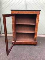 Antique Inlaid Walnut Display Cabinet (8 of 10)