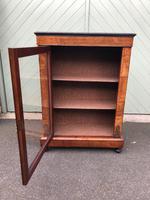 Antique Inlaid Walnut Display Cabinet (8 of 10)