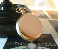 Antique Waltham Pocket Watch 1909 Ladies 7 Jewel 9ct Gold Filled Case With Curious Inscriptions Fwo (5 of 12)