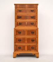Georgian Style Yew Wood Chest on Chest (3 of 13)