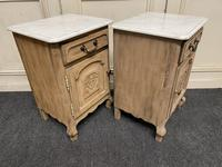 Pair of French Bleached Oak Bedside Cupboards (9 of 13)