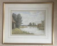 George Stanfield Walters Watercolour 'On the Trent, Hampshire' (2 of 2)