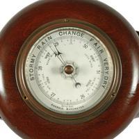 French Mahogany Propeller Barometer (4 of 7)