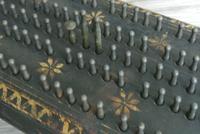 Antique 1863 American Civil War John Gill Hedgehog Cast Iron Cribbage Board (8 of 8)