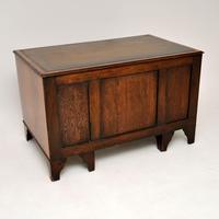 Antique Burr Walnut  Leather Top Desk (6 of 13)
