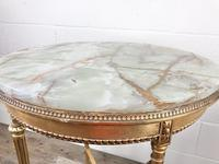 Gold Gilt Table with Circular Onyx Top (2 of 11)
