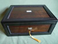 Large Inlaid Rosewood Jewellery – Work Box + Tray c.1840 (4 of 12)