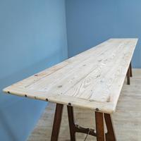Pine & Oak Trestle Table (2 of 10)