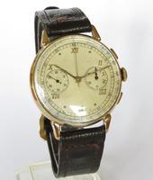 Gents 9ct Gold Landeron Chronograph Wrist Watch (2 of 5)