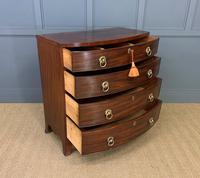 Regency Mahogany Bow Fronted Chest of Drawers (9 of 14)