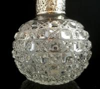 Antique Victorian Scent Bottle, Cut Glass, Sterling Silver (2 of 12)