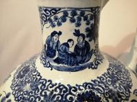 19th Century Blue & White Dutch Delft Flagon / Ewer (13 of 14)