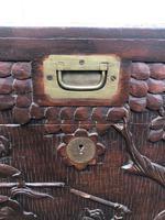 Antique Oriental Brass Bound Camphor Trunk (2 of 10)