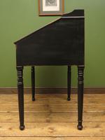 Antique Painted Black Clerks Desk (10 of 17)