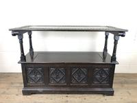 Early 20th Century Stained Oak Monk's Bench (2 of 14)
