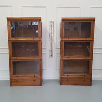 Paris Made Oak Stacking Bookcases / Haberdasheries c.1930 (7 of 7)
