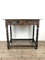 Antique Oak Side Table with Geometric Drawers (8 of 10)