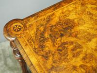 Victorian Inlaid Burr Walnut Games Table (5 of 9)