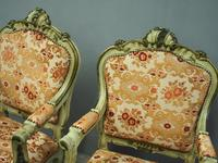 Pair of Italian Carved and Painted Armchairs (5 of 16)