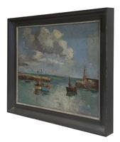 Claude Kitto - Oil on Canvas - A Devon Harbour (2 of 3)