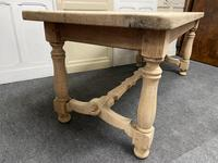 French Rustic Bleached Oak Farmhouse Kitchen Table (9 of 23)