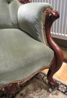 Victorian Walnut Armchair Recently Upholstered 1880 (7 of 7)