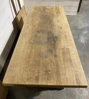 Huge Oak Farmhouse Dining Table with Extensions (23 of 24)