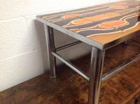 1960s Volcanic Tile Coffee Table on Chrome Supports (4 of 7)