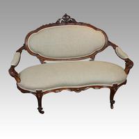Victorian Walnut Love Seat