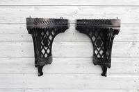 Aesthetic Movement, pierce-work corner shelves with galleries (a pair) c.1880 (6 of 35)