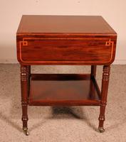 Pembroke Table In Mahogany & Inlay 19th Century - England (12 of 16)