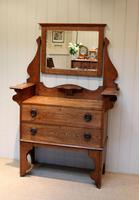 Solid Oak Arts And Crafts Chest (3 of 9)