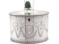Sterling Silver Locking Tea Caddy by Henry Chawner - Antique George III 1786 (14 of 14)