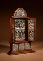 Fine and Very Decorative Russian Triptych Devotional Icon 19th Century (12 of 12)
