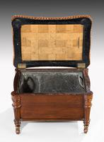 Late Regency Period Mahogany Coal Padrone with a Lift Lid (2 of 3)