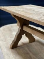 Rustic French Bleached Oak Coffee Table (13 of 20)