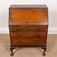 Bureau Mahogany Writing Desk Chest 19th Century (3 of 12)