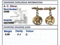 18ct Yellow Gold 'Bird' Cufflinks - Antique c.1900 (9 of 9)