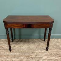 Elegant Regency Mahogany Antique Tea / Side Table (4 of 7)