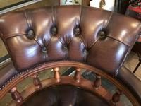 Swivel Leather Buttoned Desk Chair (8 of 10)