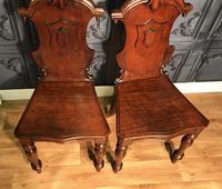 Pair of Victorian Mahogany Hall Chairs 318 (12 of 14)