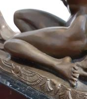 Art Deco Bronze Dancer Signed on Base by C.mirual (8 of 9)