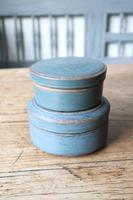 Swedish 'Folk Art' original blue painted wooden storage box / jar 19th Century (11 of 15)